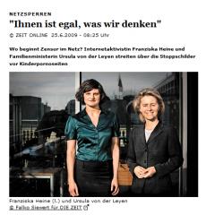 Franziska Heine und Ursula vd Laien